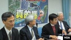 国民党立法院党团召开台湾向中国买电记者会(美国之音张永泰拍摄)