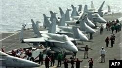 Hàng không mẫu hạm USS John C. Stennis có khoảng 5.000 thủy thủ và khoảng 75 máy bay, trong đó có 50 chiến đấu cơ.(Ảnh tư liệu)
