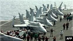 Hàng không mẫu hạm USS John C. Stennis trong vùng biển vịnh Ba Tư, 28/3/2007
