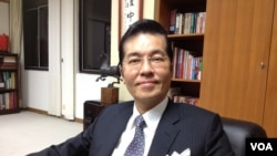 前国民党副秘书长兼发言人张荣恭(美国之音莉雅拍摄)
