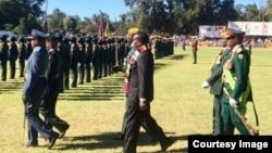UMongameli Emmerson Mnangagwa usenkundleni yeZimbabwe International Trade Fair koBulawayo.