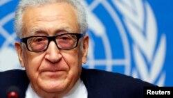 2月15日联合国调停人卜拉希米在日内瓦会谈后对媒体讲话