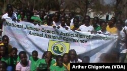 Members of the Zimbabwe National Junior Council Association in Chinhoyi.