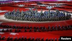 Ceremonia de apertura de los 7 ° Juegos Mundiales Militares del CISM en Wuhan, provincia de Hubei, China. Octubre 18, 2019.