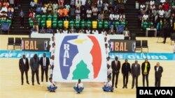 Cérémonie de dévoilement du logo BAL à la Kigali Arena, à Kigali, Rwanda, le 19 décembre 2019.