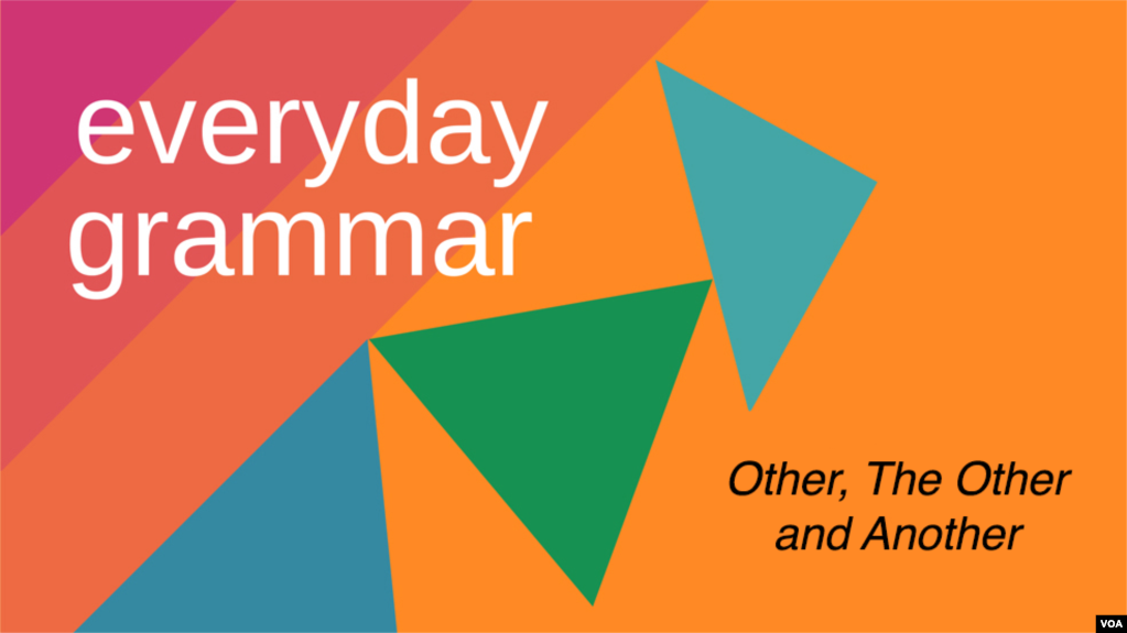 Everyday Grammar: Other, The Other and Another