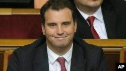 Министр экономического развития и торговли Айварас Абромавичус. Киев, Украина. 2 декабря 2014 г.