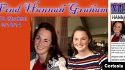 Hannah es una de las cinco jóvenes desaparecidas en los últimos cinco años en Charlottsville, VA. Se ha creado una página en Facebook para ayudar en la búsqueda de la joven.