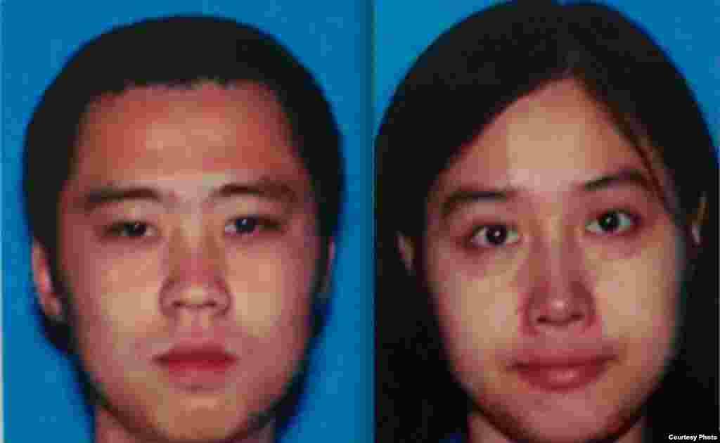 南加大被害学生瞿铭和吴颖(洛杉矶警方海报照片)