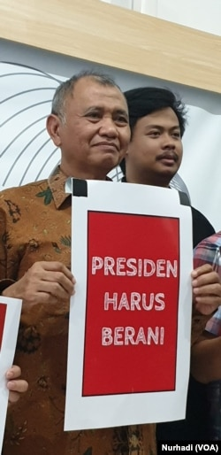 Ketua KPK Agus Rahardjo.(Foto:VOA/ Nurhadi)