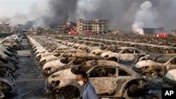 Vụ nổ kinh hoàng ở Thiên Tân