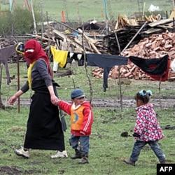 牧民定居点藏族村民