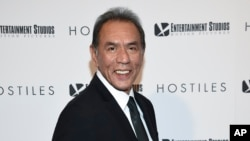 "FILE - In this Dec. 18, 2017 file photo, actor Wes Studi attends a special screening of ""Hostiles"" in New York. Studi, whose credits include ""Avatar,"" ""The Last of the Mohicans"" and ""Dances with Wolves,"" will take the stage at Sunday's Oscars to present an award."