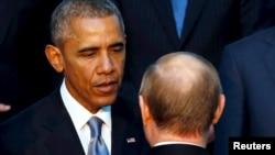 美国总统奥巴马与俄罗斯总统普京(资料图片)