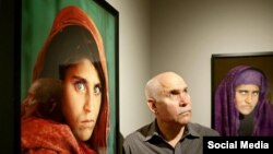Sharbat Gula, gadis Afghanistan bermata hijau (gambar sebelah kiri), ikon sampul majalah National Geographic (Foto: dok).