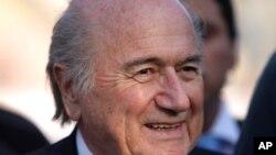 Rais wa FIFA Joseph Blatter .