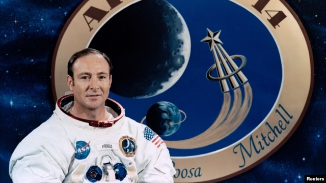 FILE - Apollo astronaut Edgar Mitchell is seen in an undated picture released by NASA.