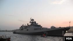 Фото: російський фрегат «Адмірал Іссен», який декілька разів підходив до Сирії