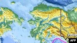 Епіцентр землетрусу на Алясці.