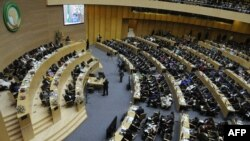 FILE - A general view shows delegates attending the 50th African Union Aniversary Summit in Addis Ababa, May 25,2013.