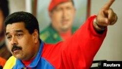 委內瑞拉總統馬杜羅2月16日就驅逐三名美國使館官員發表講話。