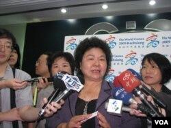 高雄市长陈菊(美国之音申华拍摄)