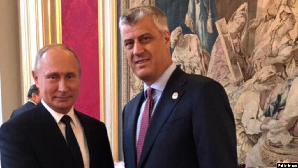 Presidenti Thaçi takohet me presidentin Putin