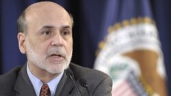 Federal Reserve Chairman Ben Bernanke speaks during a news conference at the Federal Reserve in Washington, Wednesday, April 27, 2011