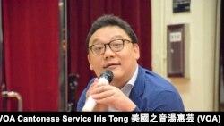 立法會選舉香港島地區直選候選人劉嘉鴻 (攝影:美國之音湯惠芸)