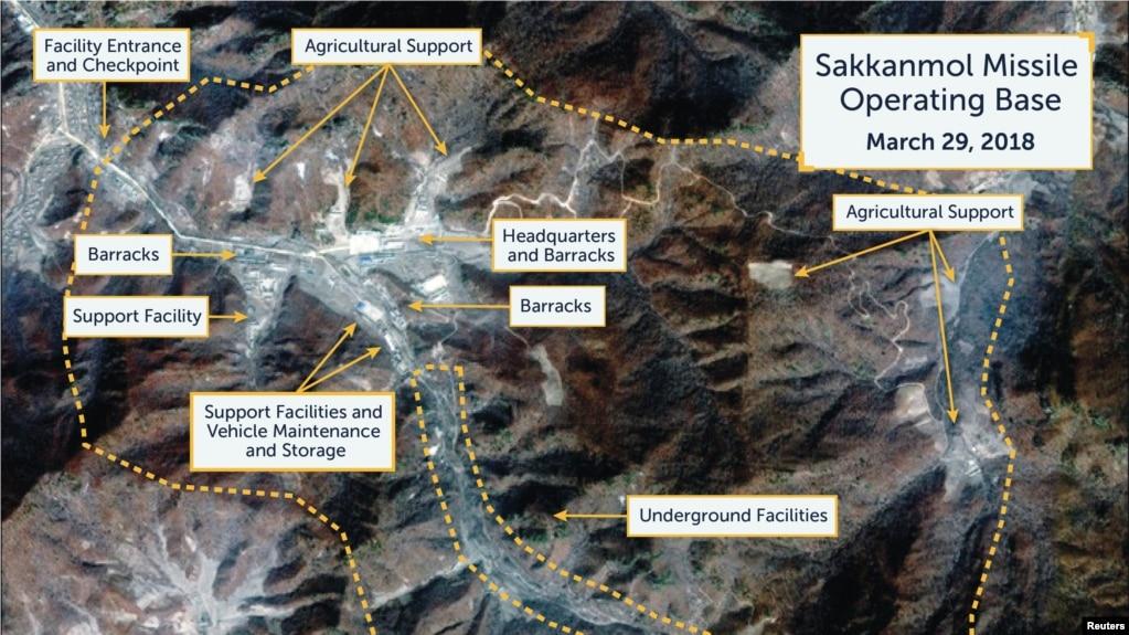 Hình ảnh vệ tinh cung cấp cho Reuters hồi tháng 11 cho thấy một căn cứ tên lửa bí mật của Bắc Hàn.