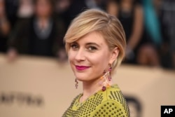 Aktris Greta Gerwig saat menghadiri ajang Screen Actors Guild Awards 2018 (Dok: Jordan Strauss/Invision/AP)