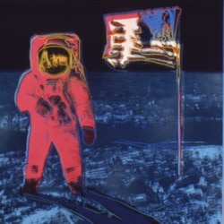 """Moonwalk 1"" 1987 silkscreen on paper"