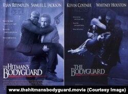 เล่นแรง! โปสเตอร์ภาพยนตร์ The Hitman's Bodyguard ล้อเลียนโปสเตอร์ภาพยนตร์เรื่อง The Bodyguard ที่โด่งดังในอดีต