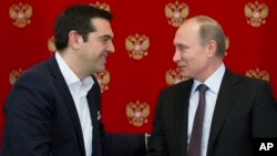 Yunanstan Başbakanı Aleksis Çipras Moskova'da Rusya Cumhurbaşkanı Vladimir Putin ile