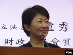 台湾执政党国民党立委卢秀燕(美国之音张永泰拍摄)