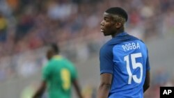 Paul Pogba, joueur du Manchester United. (AP Photo/David Vincent, file)