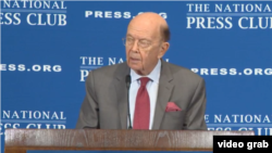 Wilbur Ross, secretario de Comercio de EE.UU., habló en el National Press Club en Washington el lunes, 14 de mayo, de 2018.