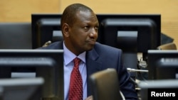Kenyan Deputy President William Ruto in the courtroom of the International Criminal Court (ICC) in The Hague, May 14, 2013.