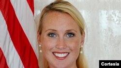 Lydia Barraza, portavoz en español del Departamento de Estado