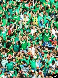 The Agraz couple are going to be joining an estimated 25,000 Mexican fans at Africa's first football World Cup