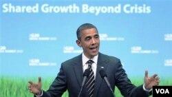 Presiden AS Barack Obama memuji kesepakatan para pemimpin G20.