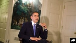 US President Barack Obama delivers the weekly radio address, 13 Mar 2010