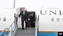 美國國務卿蓬佩奧2月11日抵達匈牙利。
