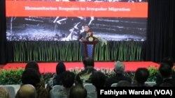 Menteri Luar Negeri Retno Marsudi. (VOA/Fathiyah)