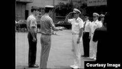美军协防司令部在台北降旗 (CTS 历史资料画面截图)