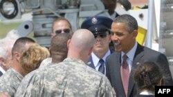 Predsednik Obama u susretu sa vojnicima u bazi Fort Dram, u državi Njujork