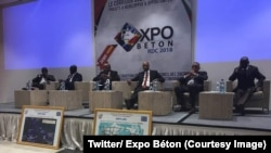 """Les intervenants au forum """"Expo Béton"""" sur l'aménagement du """"Corridor Ouest"""" de l'Afrique ont évoqué le projet d'un pont reliant Brazzaville à Kinshasa sur le fleuve Congo à Kinshasa, le 20 septembre 2018. (Twitter/ Expo Béton)"""