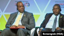 Presidente Filipe Nyusi e Rei Mswati III de Essuatiní