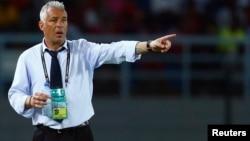 L'ancien entraîneur du Gabon Jorge Costa lors de la Coupe d'Afrique des Nations à Bata, le 21 janvier 2015.