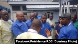 Dr. Jean-Jacques Muyembe, mokambi ya misala ya bitumba na bokono ya Ebola, na Goma, Nord-Kivu, 2 août 2019. (Facebook/Présidence RDC)